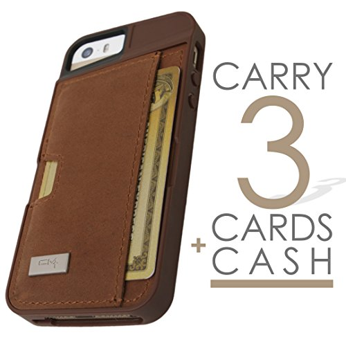 half off d9a62 1dee4 CM4 Leather Q Card Case for iPhone 5/5s – Brown
