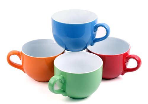 Set Of 4 Jumbo 18oz Wide Mouth Soup Amp Cereal Ceramic