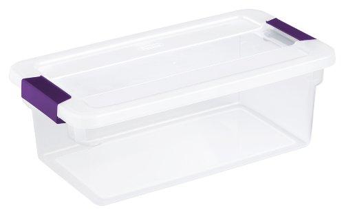Sterilite 17511712 6 Quart ClearView Latch Box 12 Pack Collegetropolis