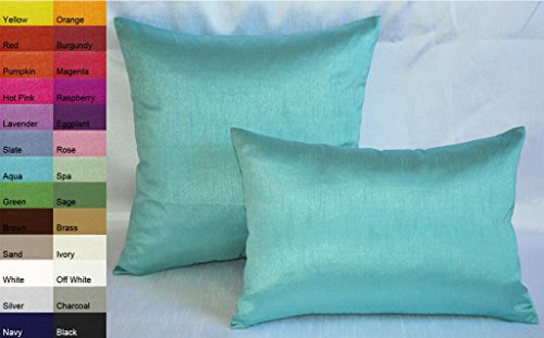 Creative Solid Decorative Pillows / Throw Pillows 12 by 18 - Aqua ? Collegetropolis
