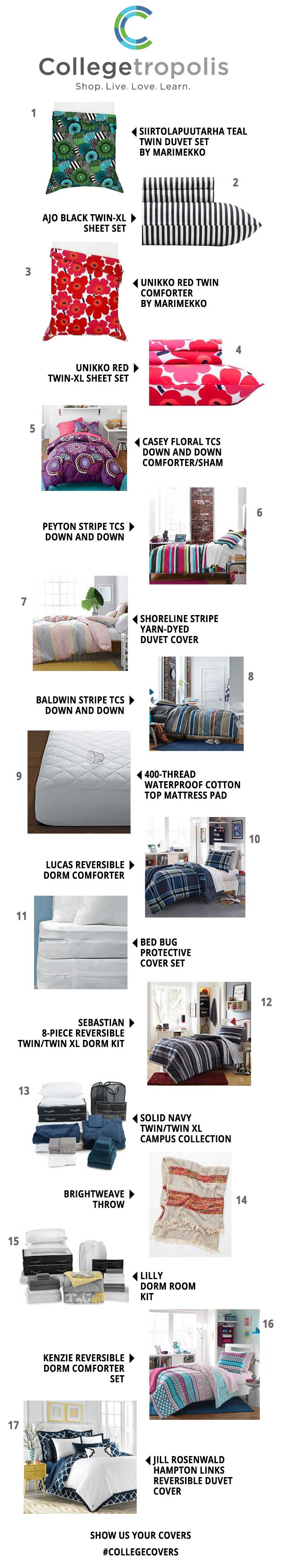 Must-have Dorm Room Bedding (Twin XL)